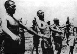 Prisoners of war exercising