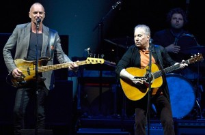Paul Simon and Sting kicked off their 'On Stage Together' tour at the Toyota Center on February 8, 2014 in Houston, Texas.